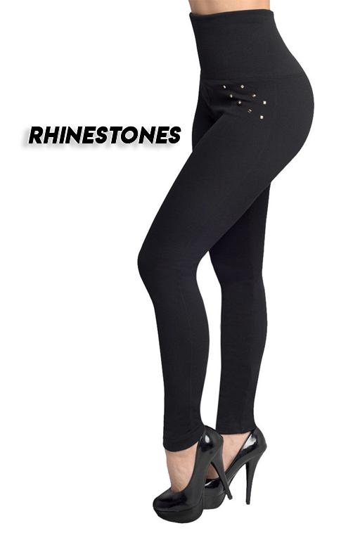 Womens Pants leggings with rhinestones