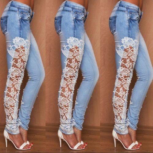 Womens Prestige Lace Jeans