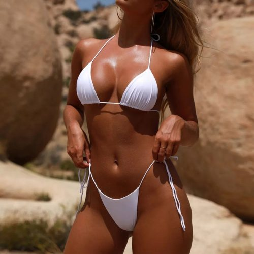 Simple But Sexy String Tie Bikini