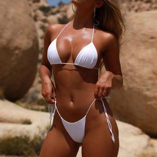 Simple But Sexy String Tie Bikini