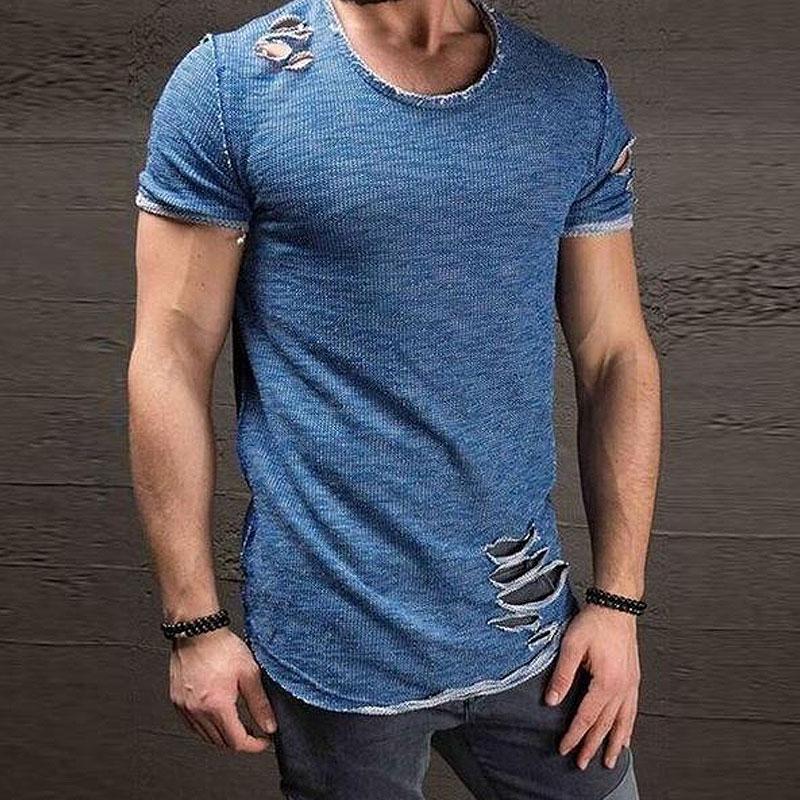 Mens Distressed Fashion T Shirts