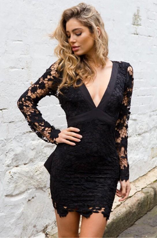 Womens Elegant Lace Dress