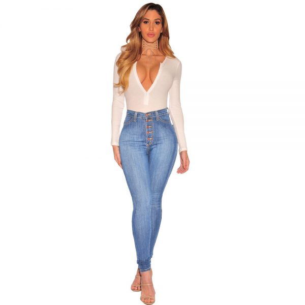Womens Button Up Jeans