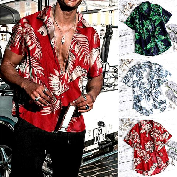 Mens Casual Beach Summer Shirt
