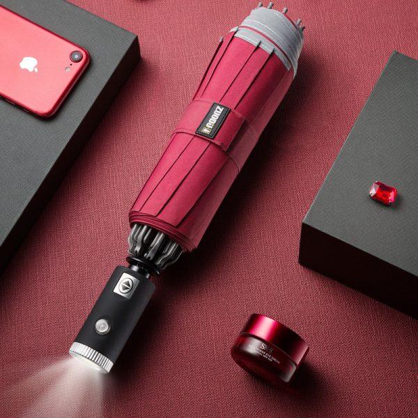 LED Flashlight Folding Umbrella